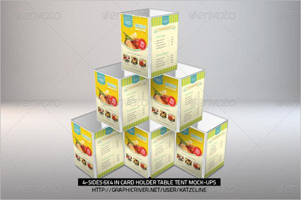 Set Of Table Tent Card Mockup Design