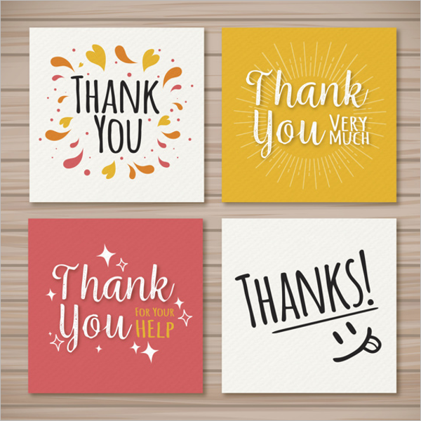 Set Of Vintage Thank You Card