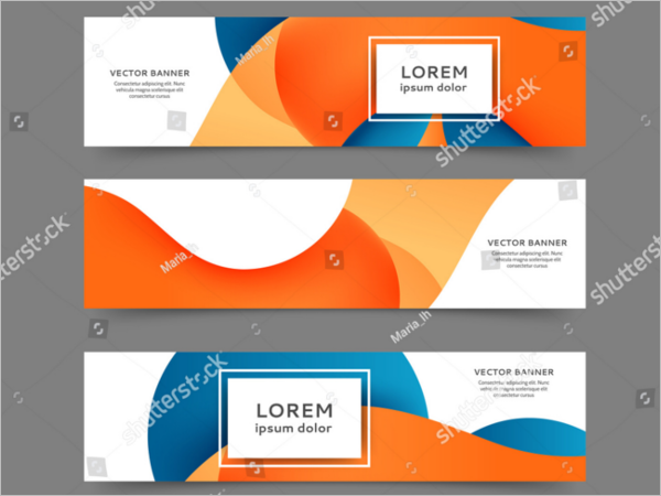 set of web banner template