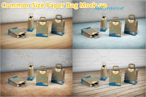 Shopping Paper Bag Mockup Design