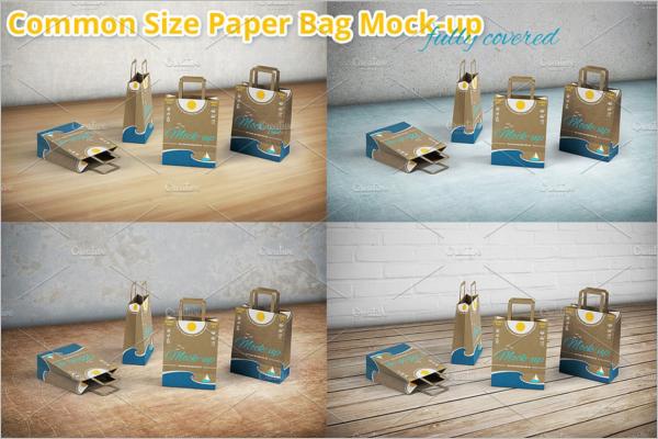 Shopping Paper Bag Mockup Design