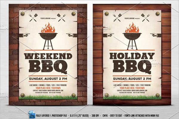Simple BBQ Flyer Template