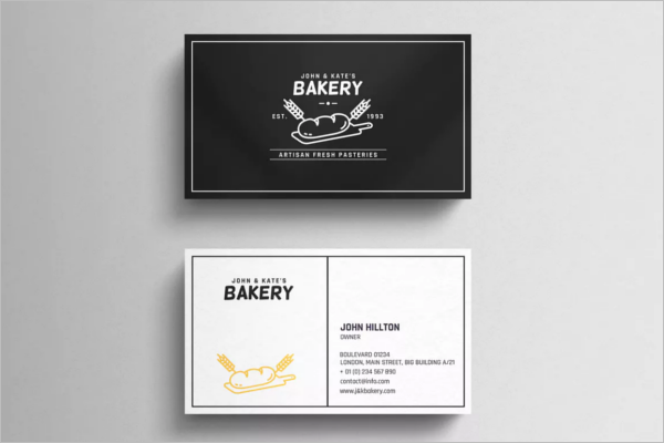 Simple Bakery Business Card Design