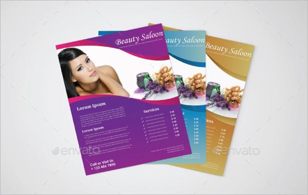 Simple Beauty Salon Flyer Template