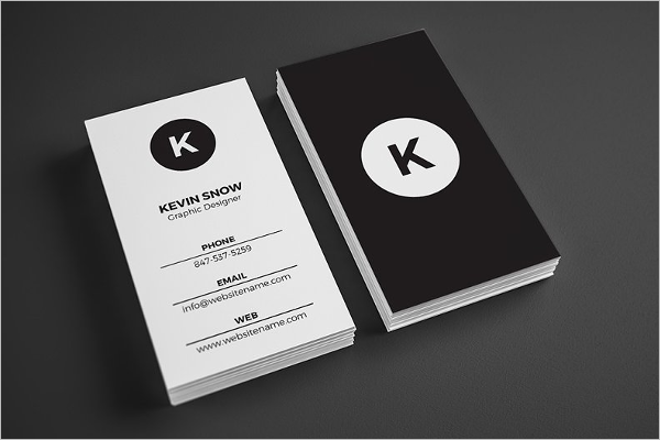 Simple Black & White Business Card Template