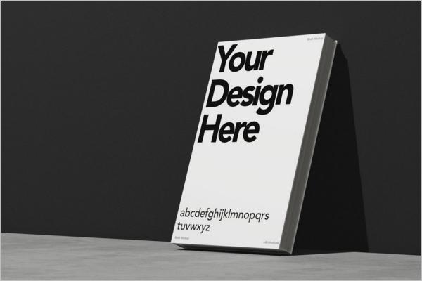 Simple Book Cover Mockup Design
