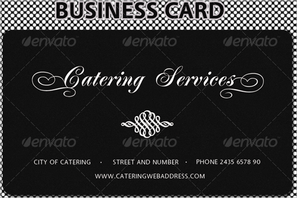 Simple Catering Service Business Card Design