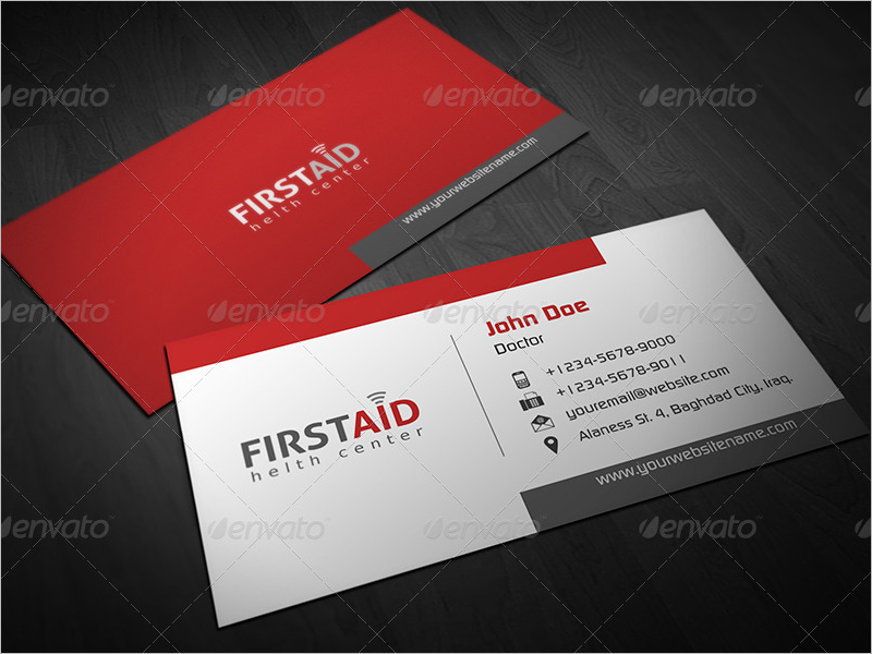 Simple Clinic Business Card Design