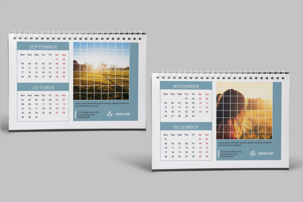 Simple Desk Calendar Mockup Design