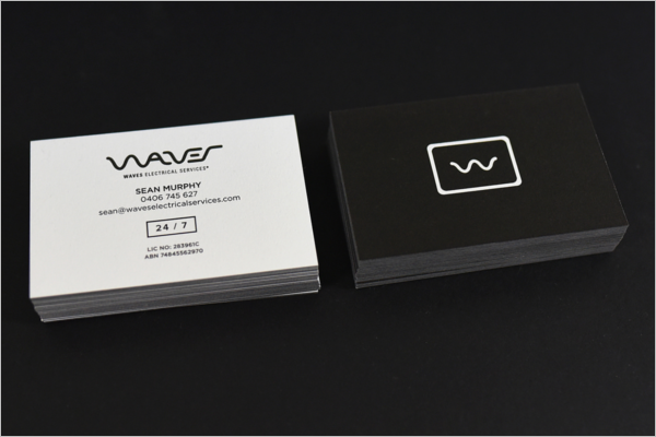 Simple Electrician Business Card Template