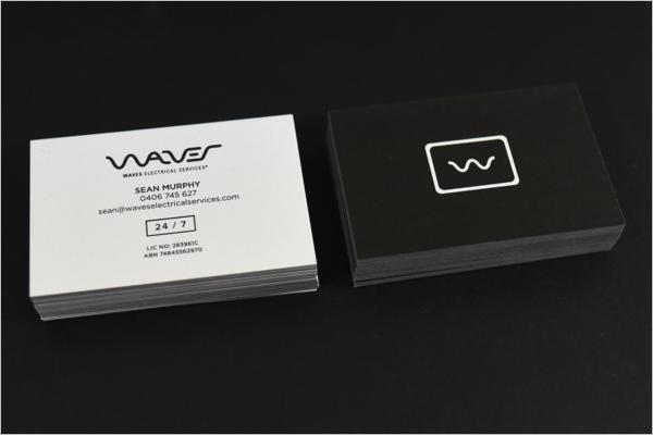 Simple Electrician Business Card Template