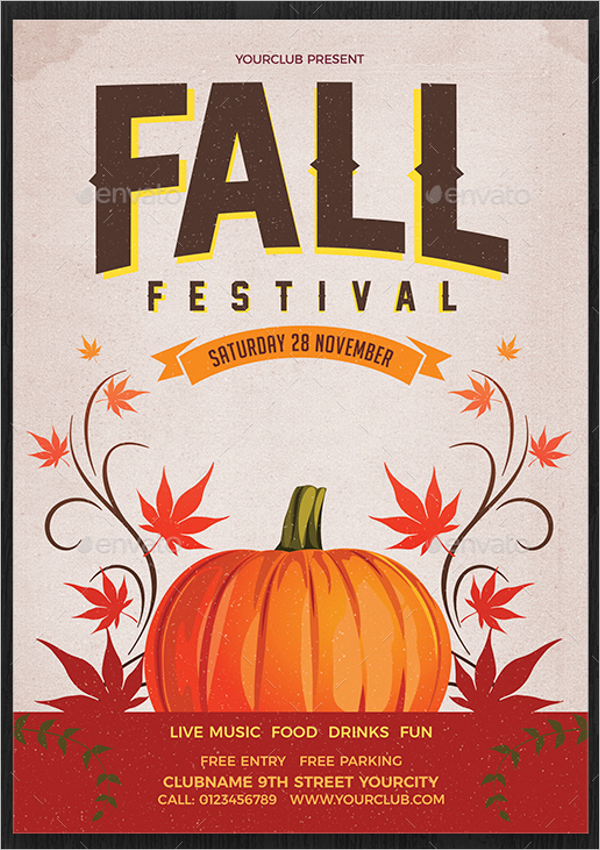 Simple Fall Flyer Template