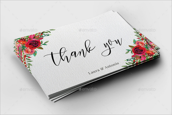 Simple Floral Thank You Card Design
