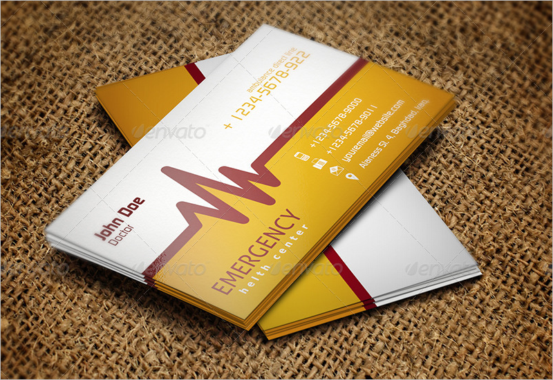 Simple Hospital Business Card Template