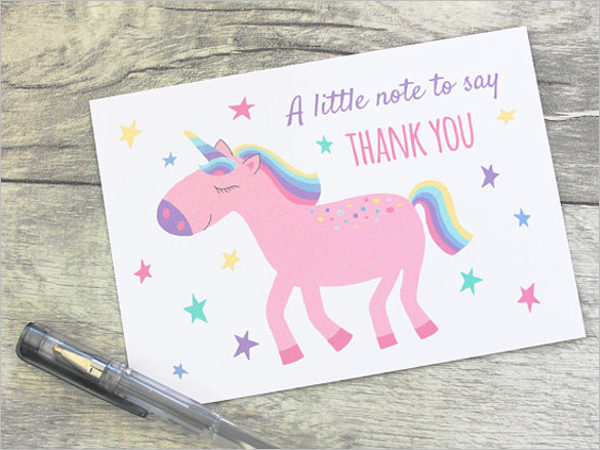 Simple Kids Thank You Card Design