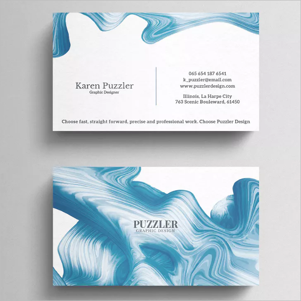 Simple Makeup Artistic Business Card Design