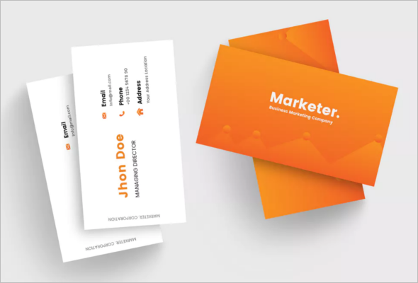 Simple Marketing Business Card Template