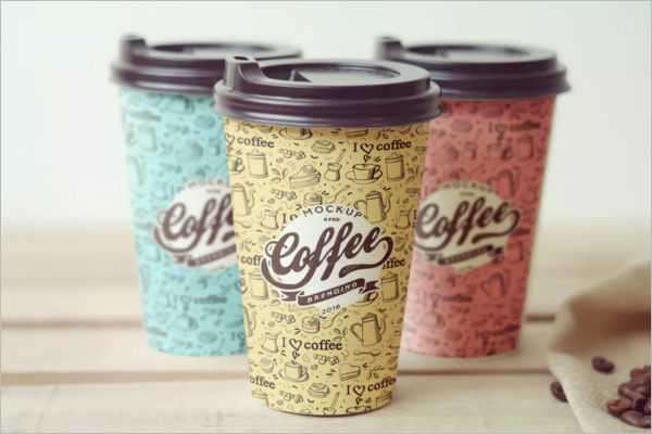 Simple Paper Cup Mockup Design