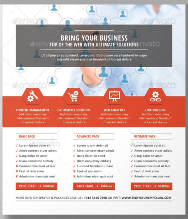 Simple SEO Flyer Template