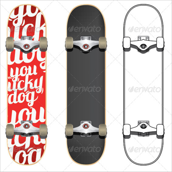 Simple Skateboard Mockup Design