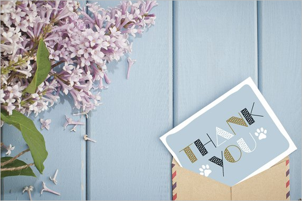 Simple Thank You Card Template
