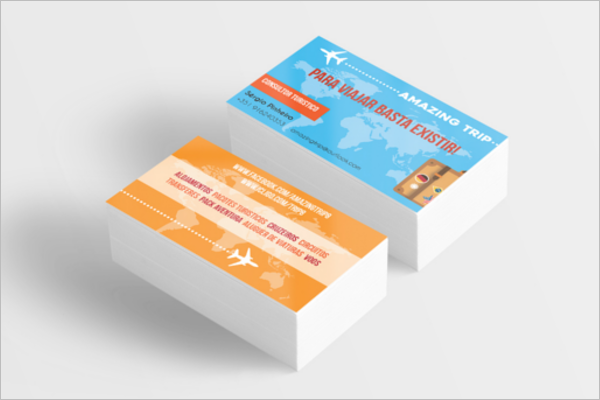 Simple Travel Business Card Free Design
