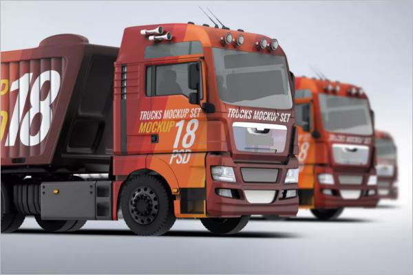 Simple Truck Mockup Template
