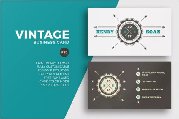 Simple Vintage Business Card Template