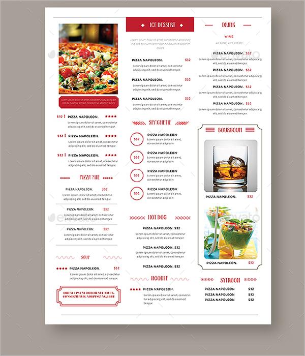 Simple vintage menu design for Simple html menu template