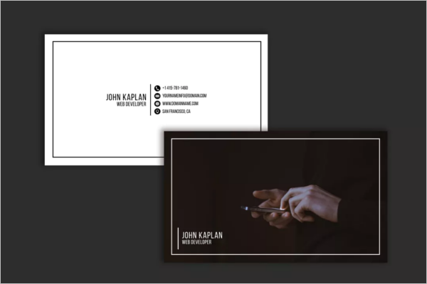 Simple Web Developer Business Card Template