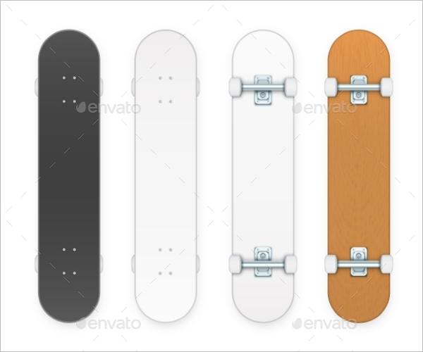Skateboard Mockup Vector Design