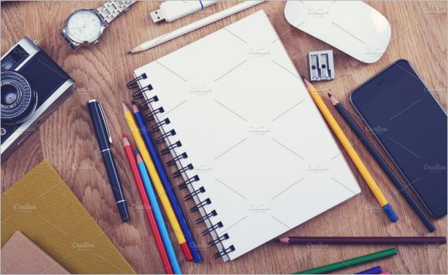 Sketchbook Drawing Mockup Design