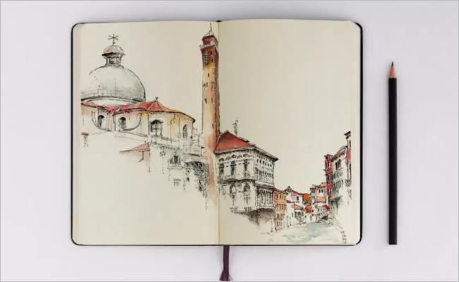 Sketchbook Mockup Image Design