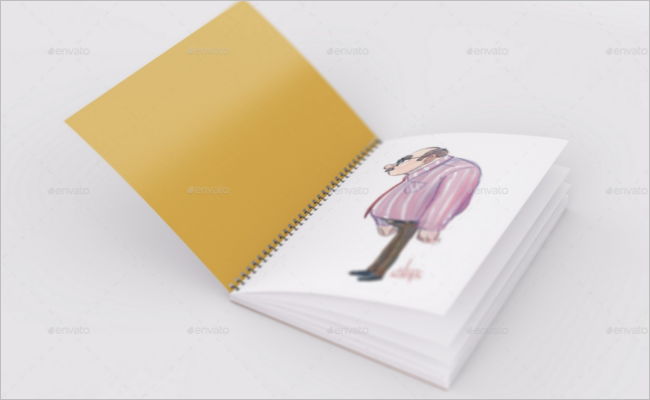 Sketchbook Mockup Photoshop Template