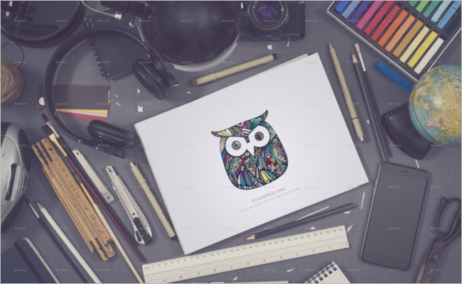 Sketchbook Sketch Mockup Template
