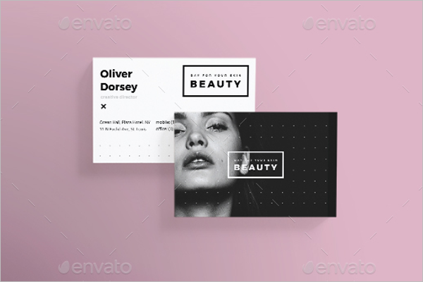 Skin Care Beauty Business Card