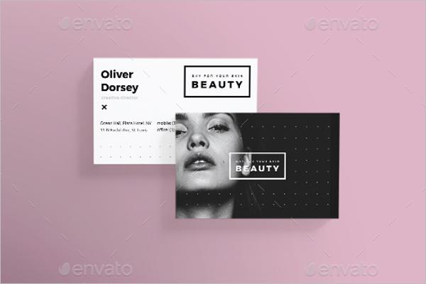 Skin Care Beauty Business Card