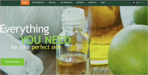 Skin Care Zen Cart Template
