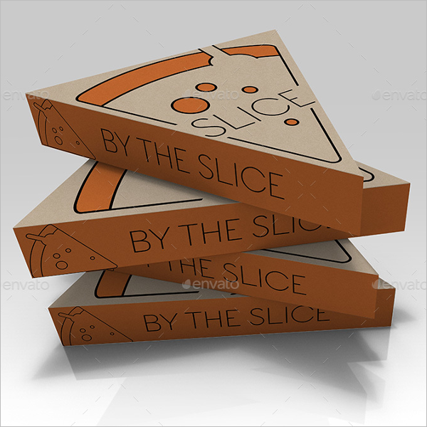 Slice Pizza Box Mockup