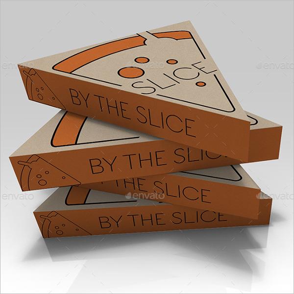 Slice Pizza Box Mockup