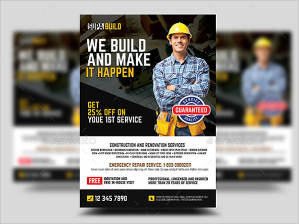 Small Business Contract Flyer Template