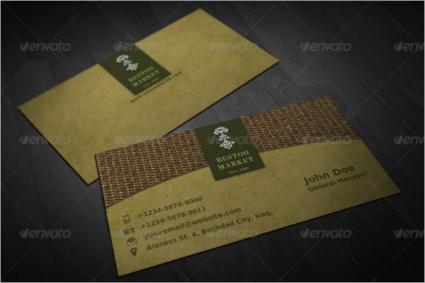 Small Market Business Card Template