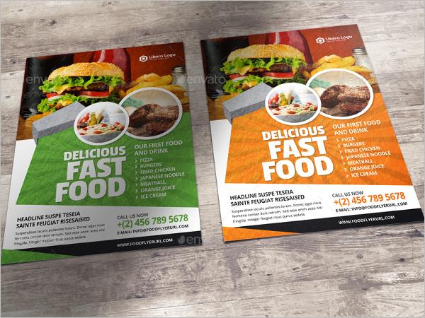 Small Restaurant Business Flyer Design