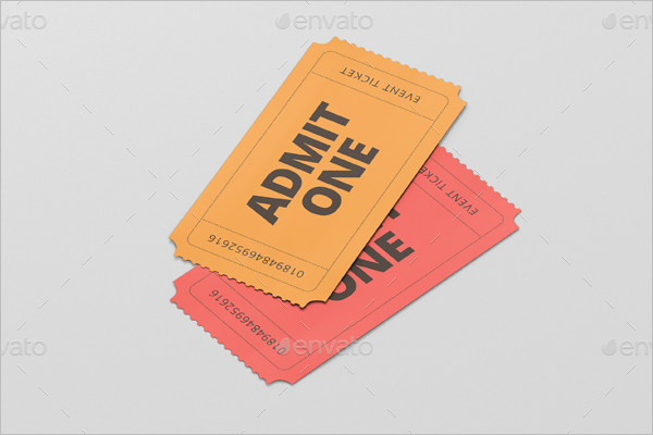 Small Size Ticket Mockup Design