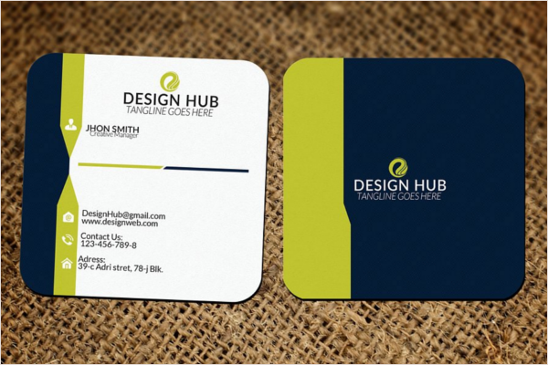 Small Square Business Card Design