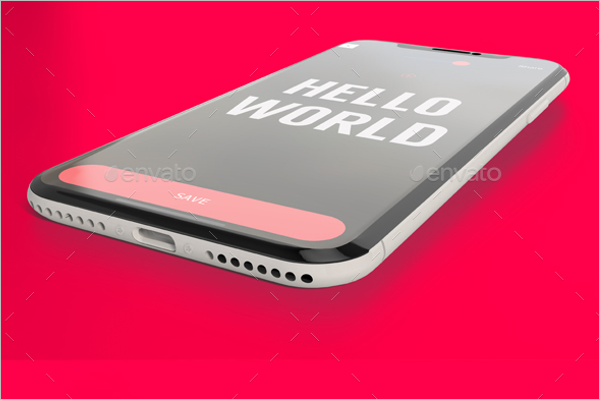 Smart iPhone X Mockup Design