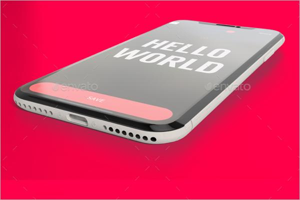 Smart iPhone X Mockup Design