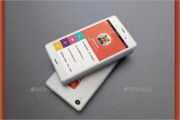 Smartphone Business Card Design