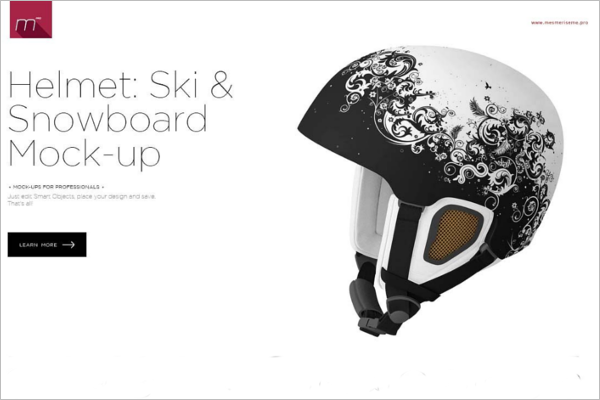 Snowboard Helmet Mockup