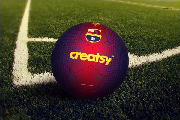 Soccer Ball Mockup Set Design